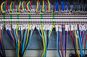 Wires and  industrial electrical control panel