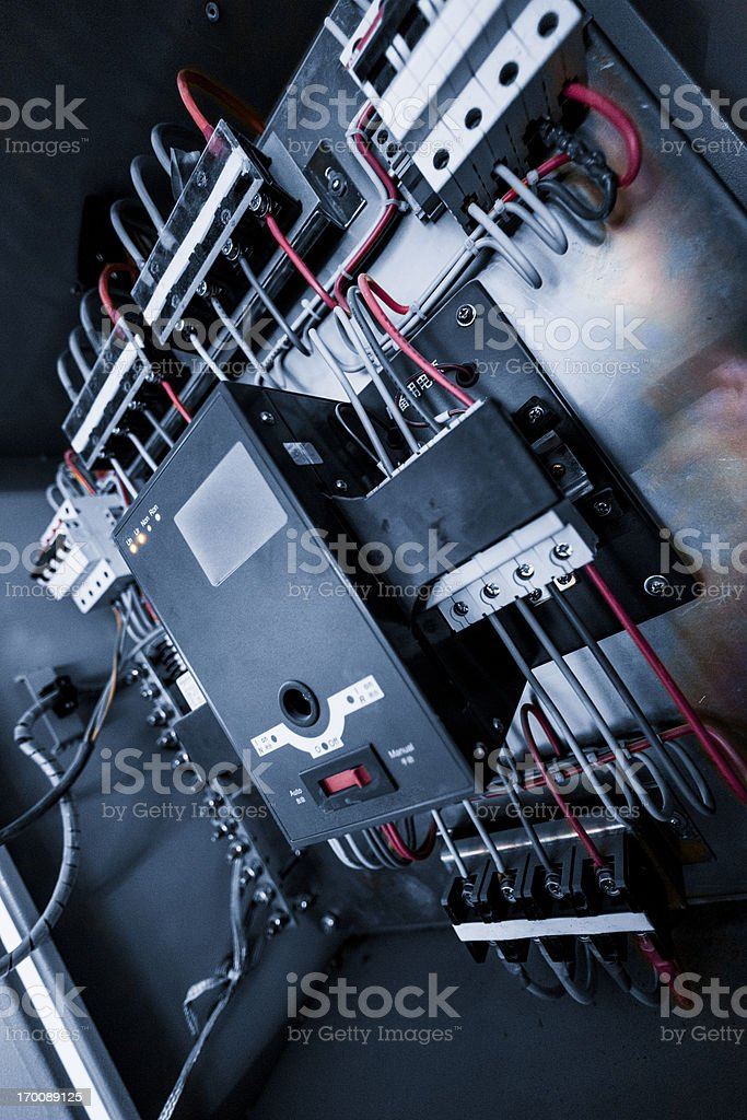 wires in box stock photo
