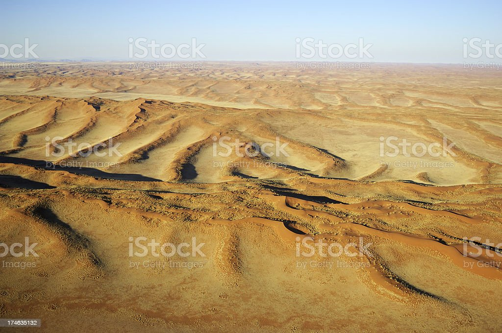Wires of sand in the desert stock photo