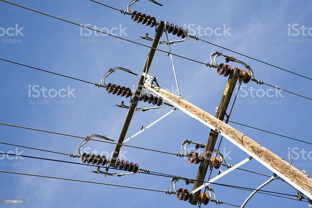 Wires On A Pole stock photo