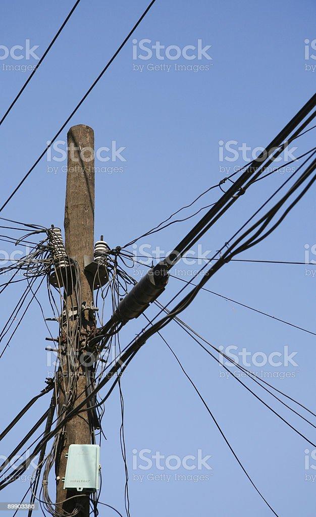 Cables foto de stock libre de derechos