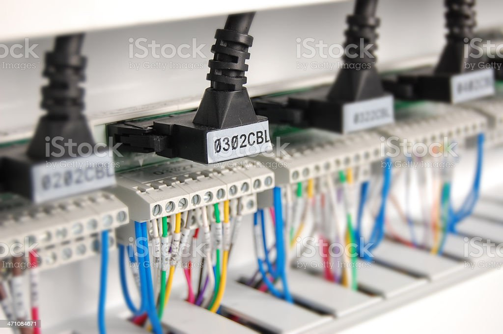 Wiring in a Control Cabinet stock photo