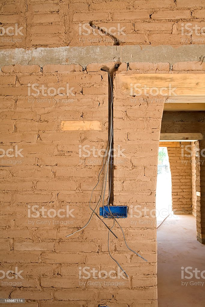 Wiring in Adobe royalty-free stock photo