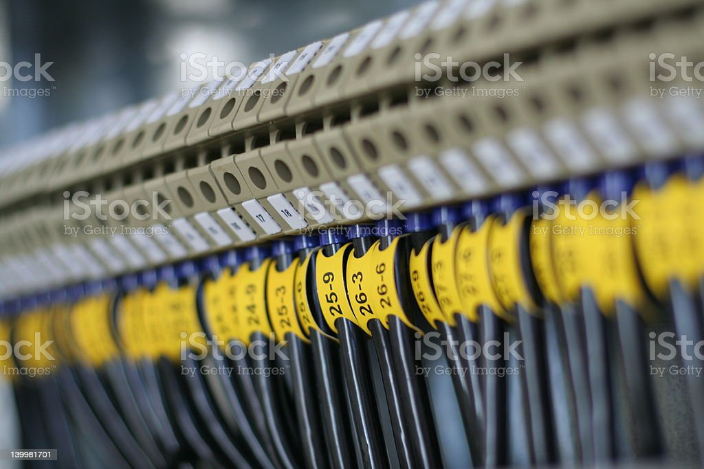 Wiring royalty-free stock photo