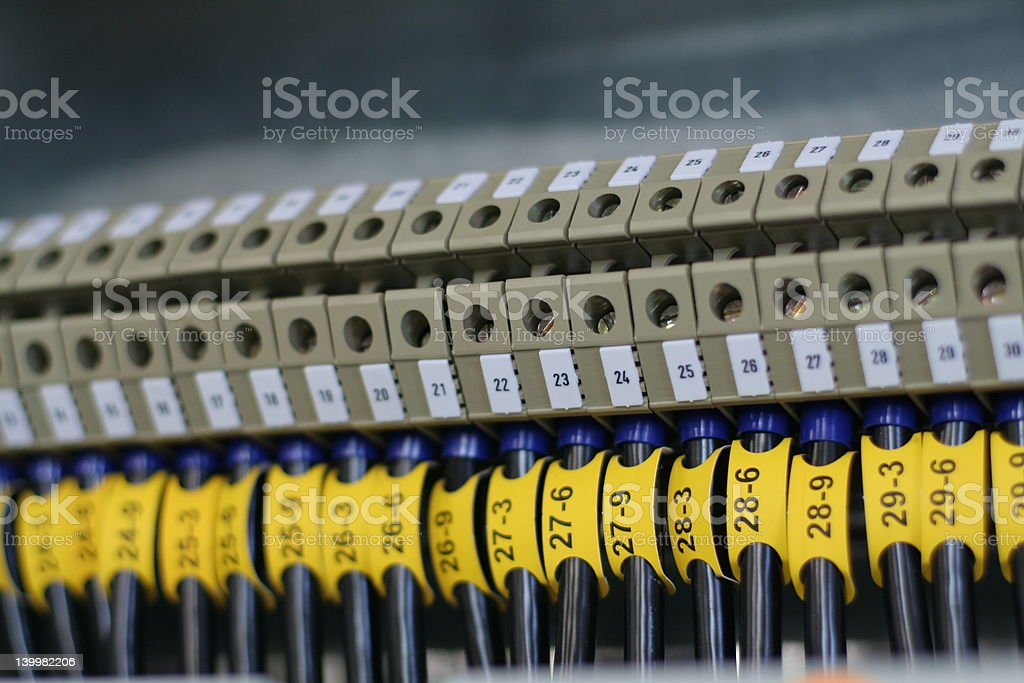 Wiring royalty-free stock photo