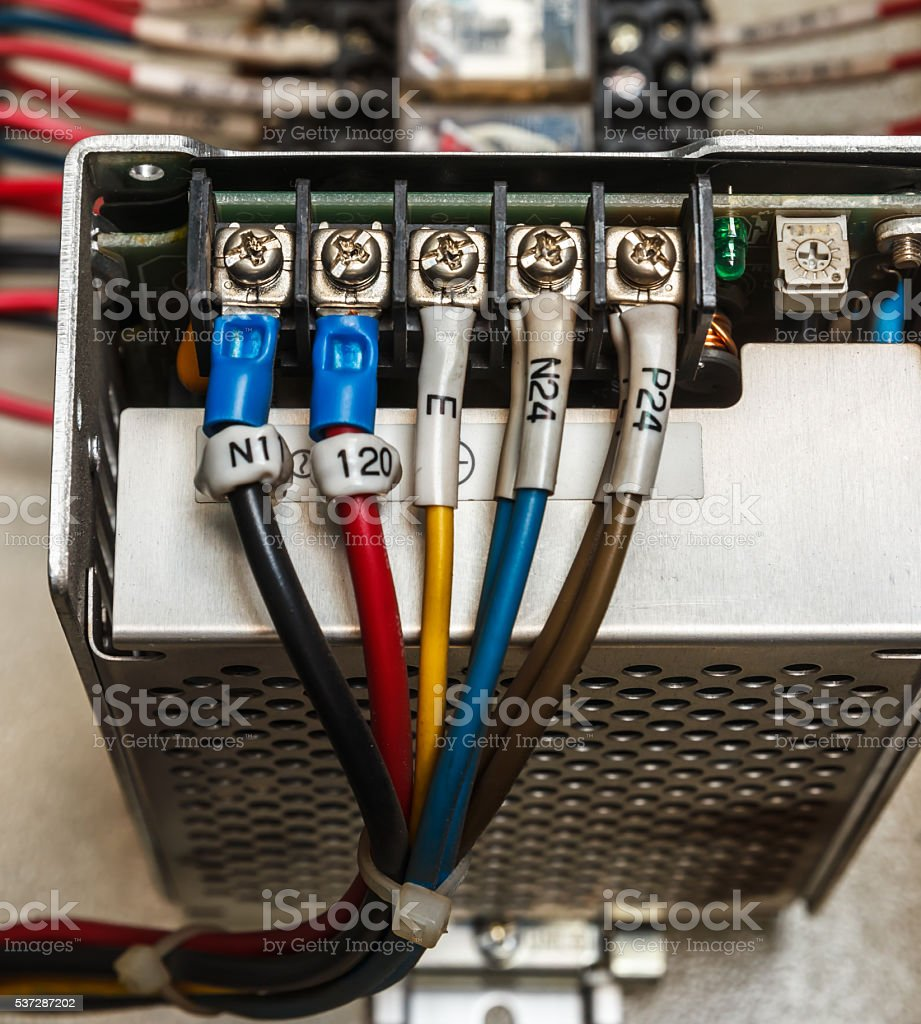 Wiring stock photo