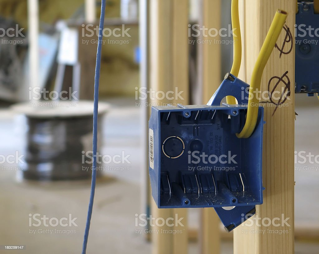 Wiring Project royalty-free stock photo