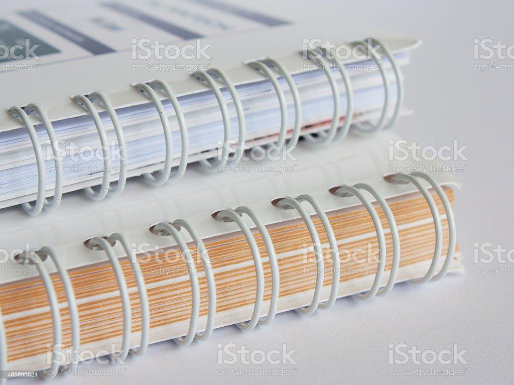 Wiro binding stock photo