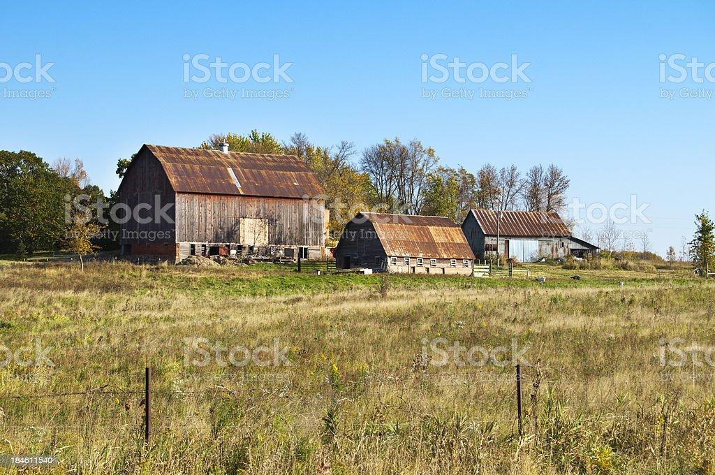 Wisconsin Farm Land royalty-free stock photo