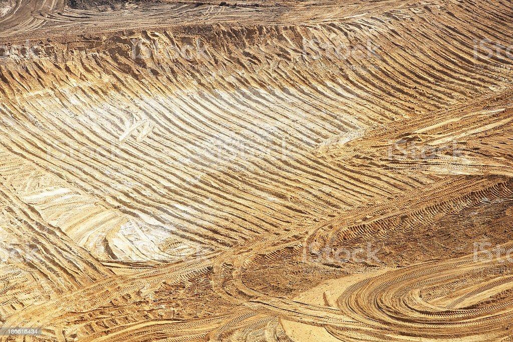 Wisconsin Frac Sand Mine Excavation Area stock photo