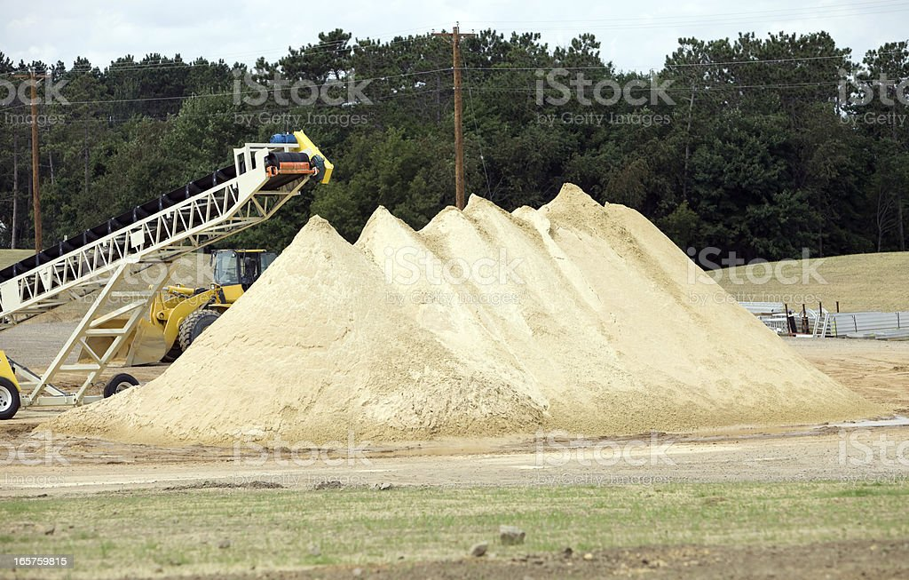 Wisconsin Frac Sand Mine Pile stock photo