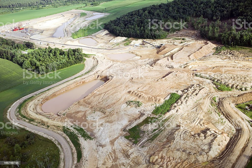 Wisconsin Frac Sand Mining Operation stock photo