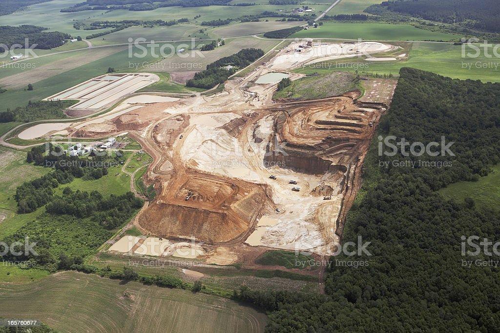 Wisconsin Frac Sand Mining Operation stock photo
