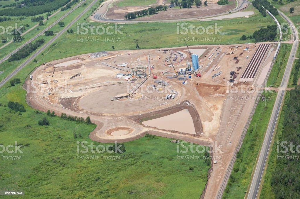 Wisconsin Frac Sand Processing Facility Construction stock photo