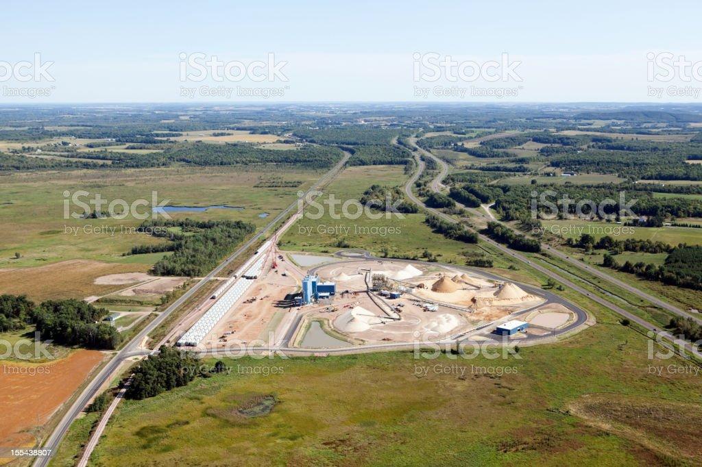 Wisconsin Frac Sand Processing Facility stock photo