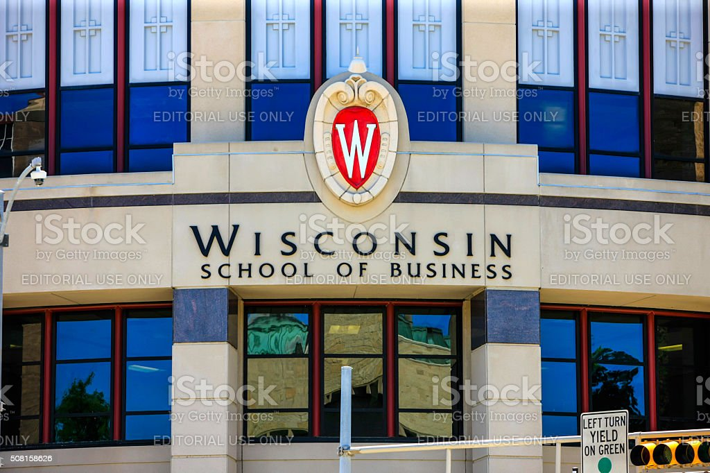 Wisconsin School of Business building in Madison stock photo