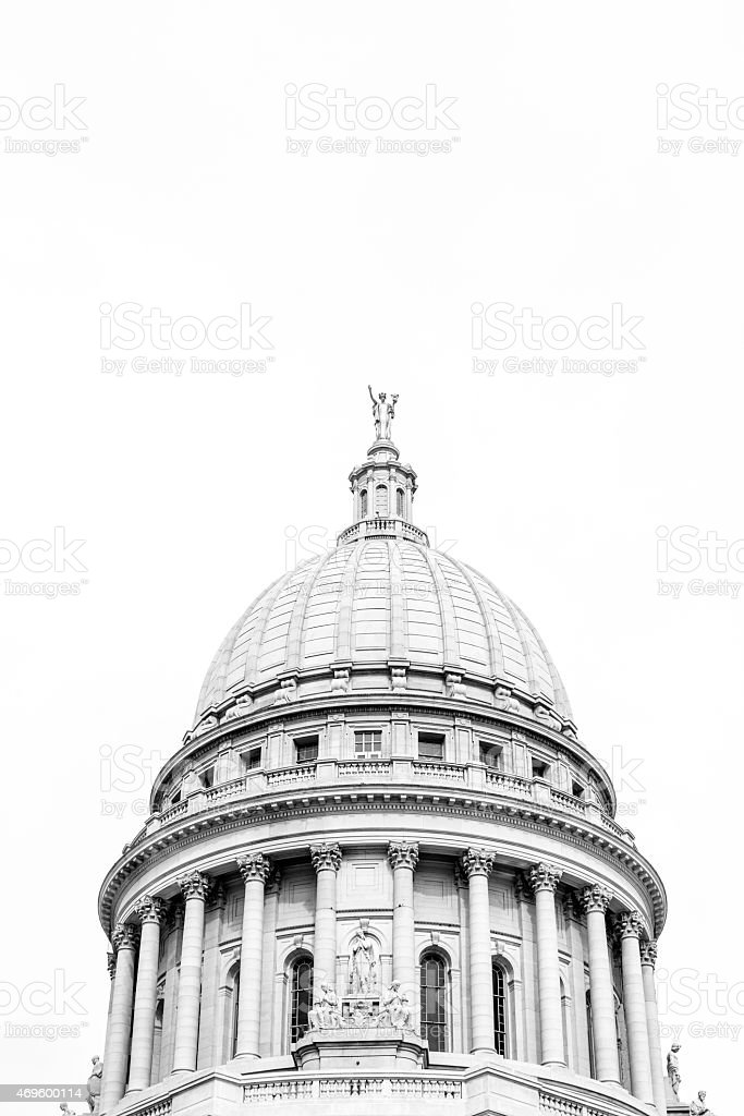 Wisconsin State Capitol Building, Madison stock photo