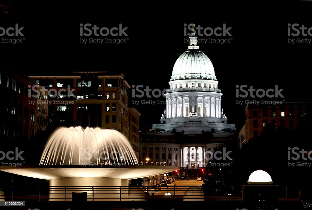 Wisconsin State Capitol building stock photo