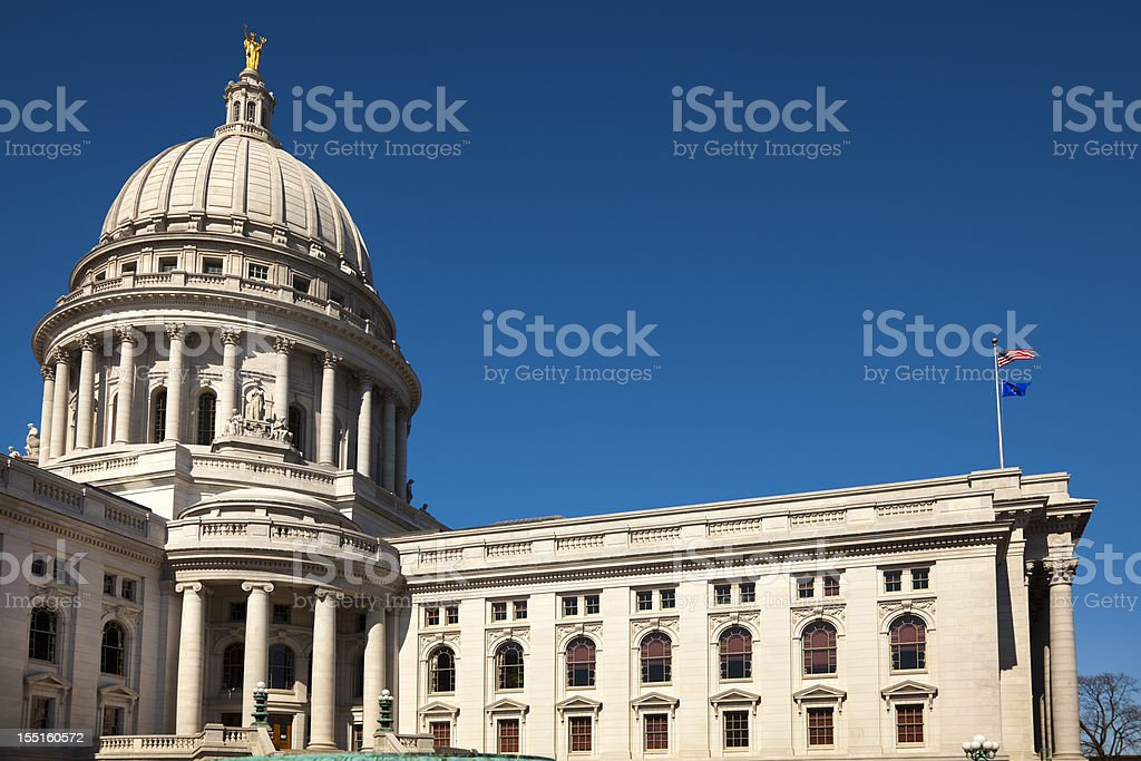 Wisconsin State Capitol Building Rotunda stock photo