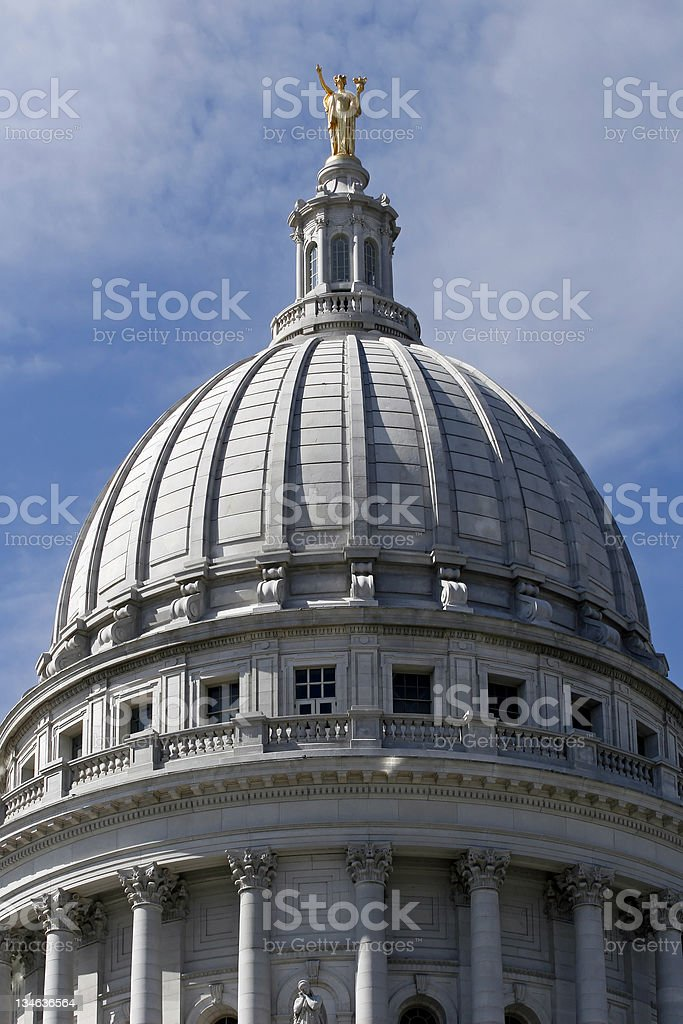 Wisconsin State Capitol - Miss Forward stock photo