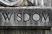 Wisdom Cut into old stone sculpture