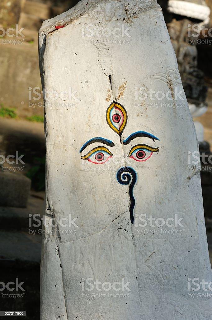 wisdom eye of nepal stock photo