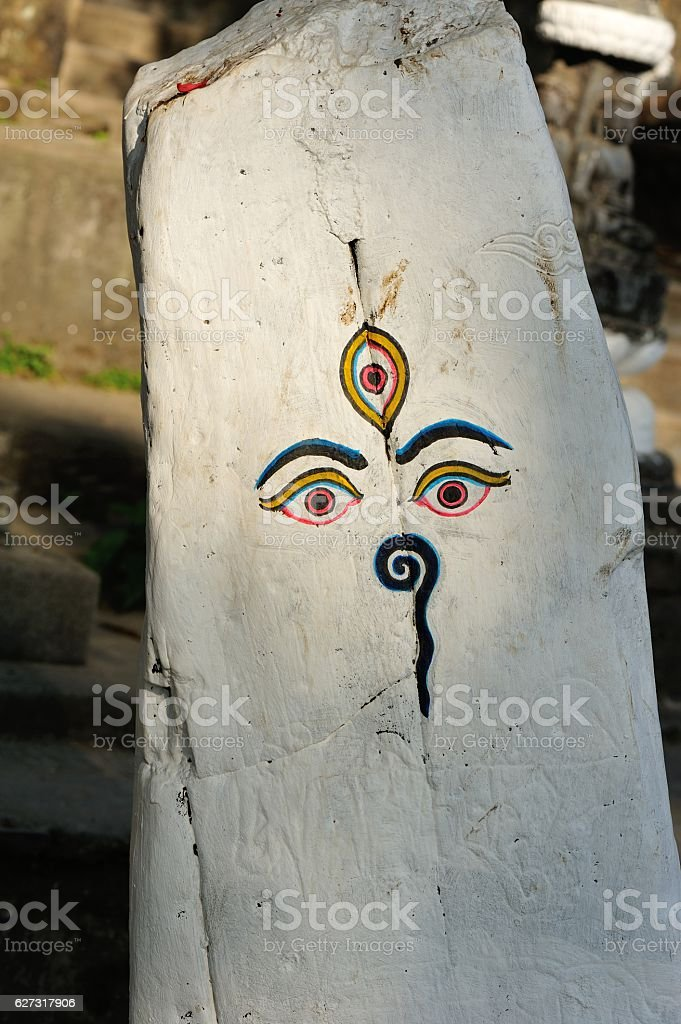 wisdom eye of nepal stock photo