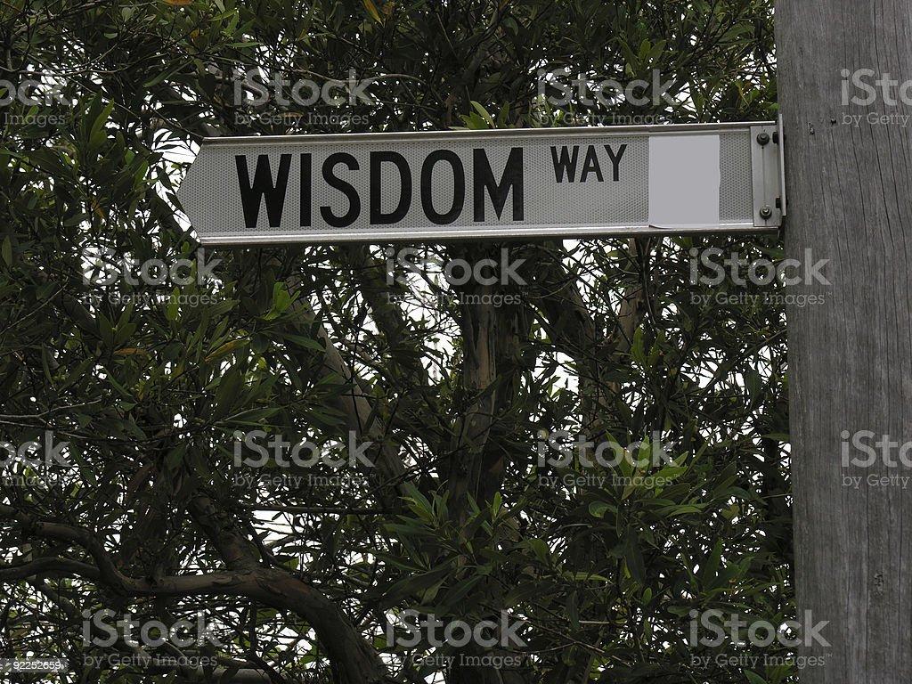 Wisdom Way road sign royalty-free stock photo