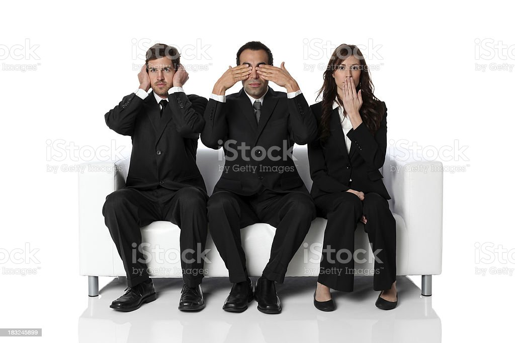 Wise businesspeople Buddhist monkey concept royalty-free stock photo
