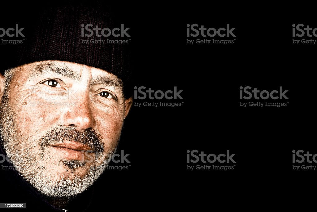 Wise happy man royalty-free stock photo