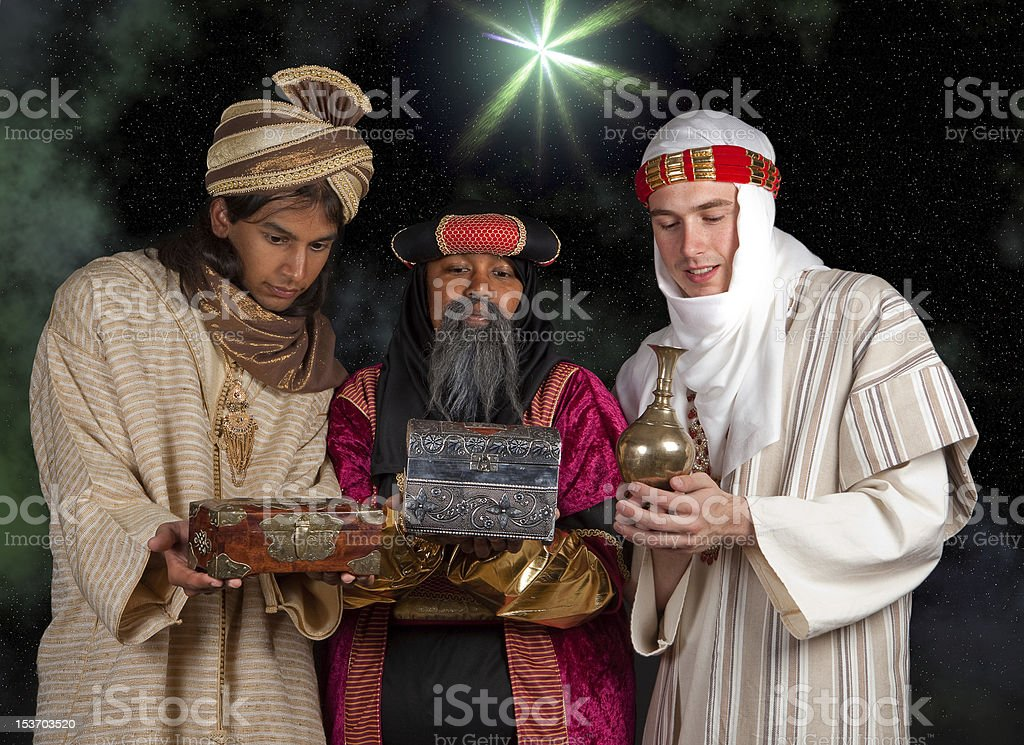 Wisemen gifts stock photo