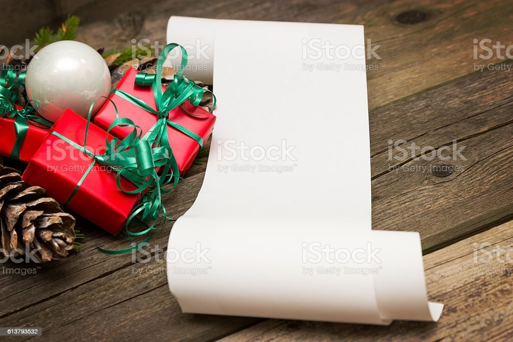 Wish list stock photo