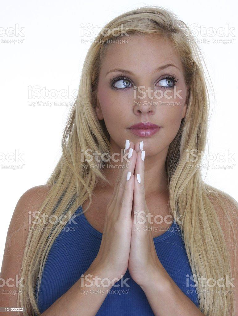 wish on a prayer royalty-free stock photo