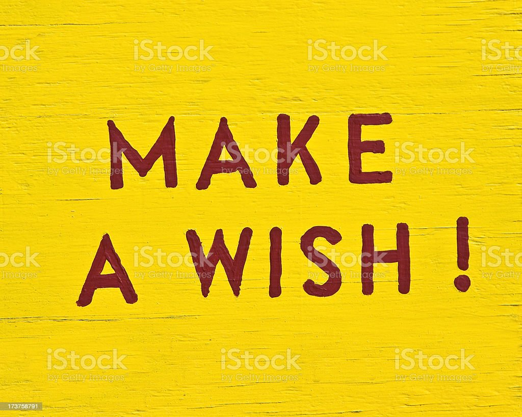 Wish sign royalty-free stock photo