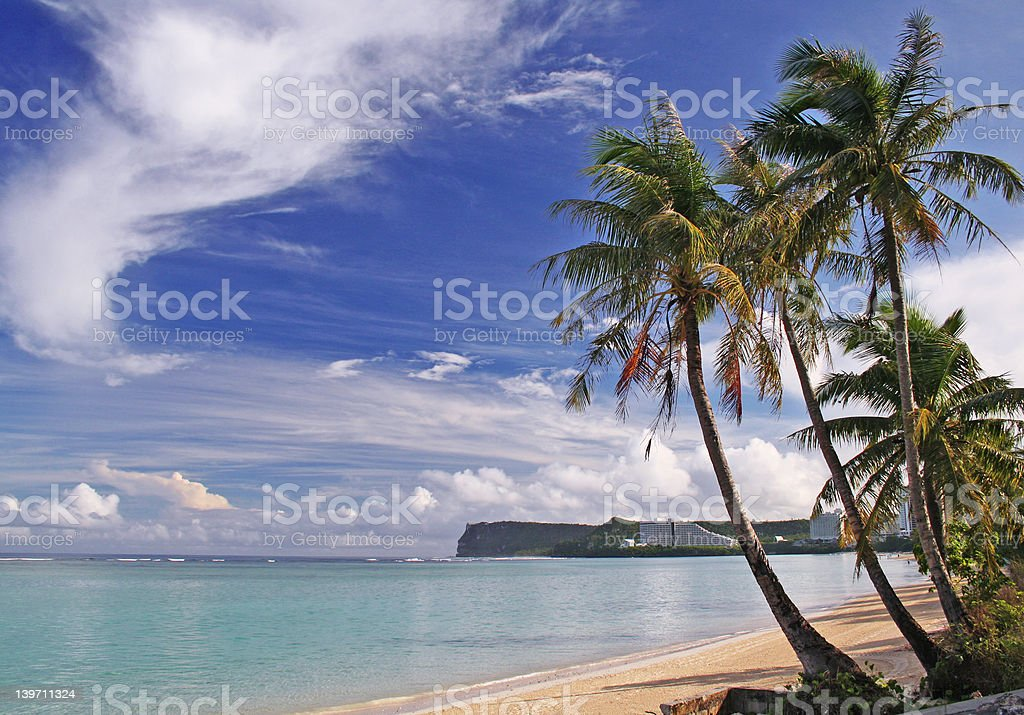 Wish You Were Here (in Guam) royalty-free stock photo