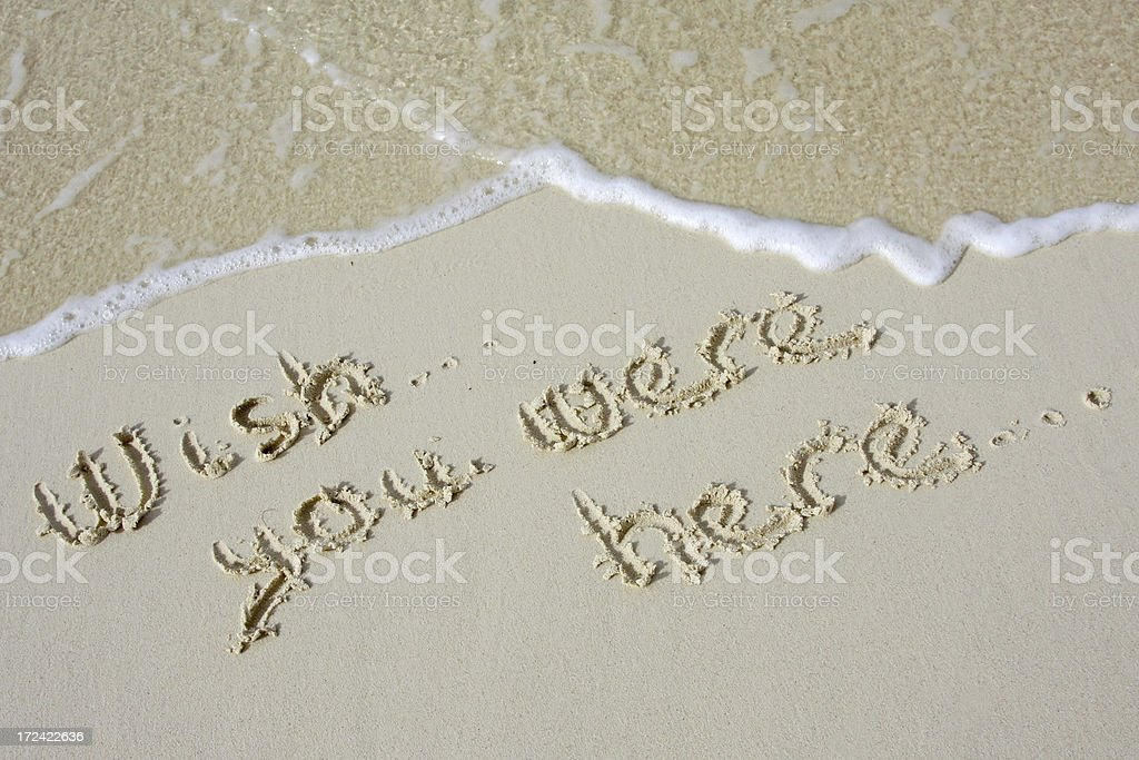 Wish you were here ...... royalty-free stock photo