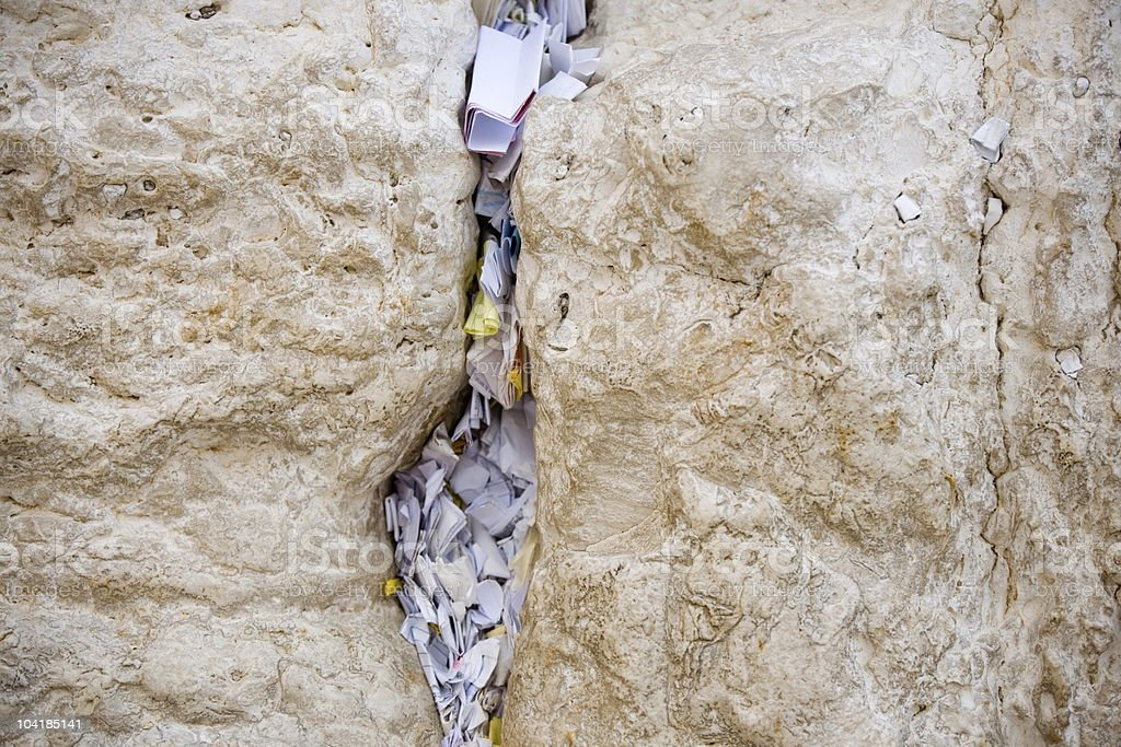 Wishes in Western Wall royalty-free stock photo
