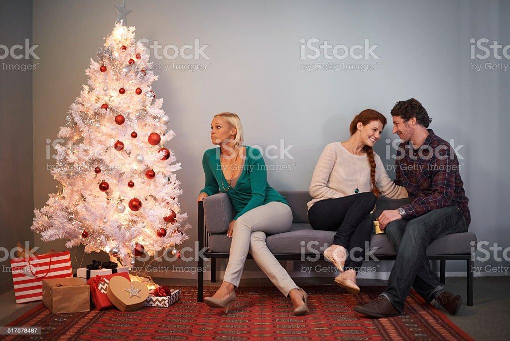 Wishful thinking at Christmas stock photo