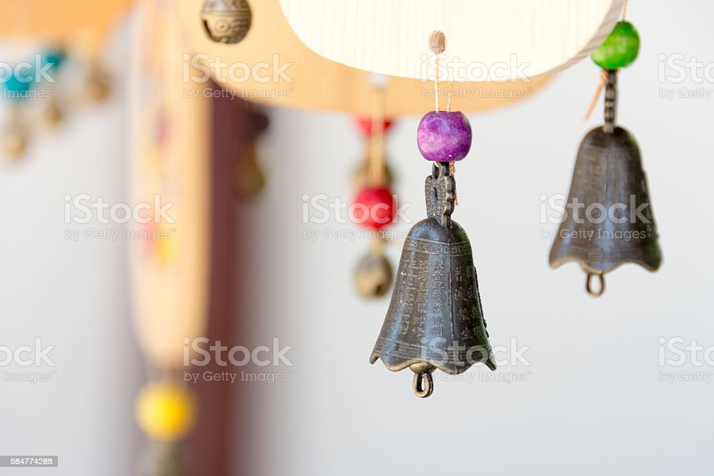 Wishing bells stock photo
