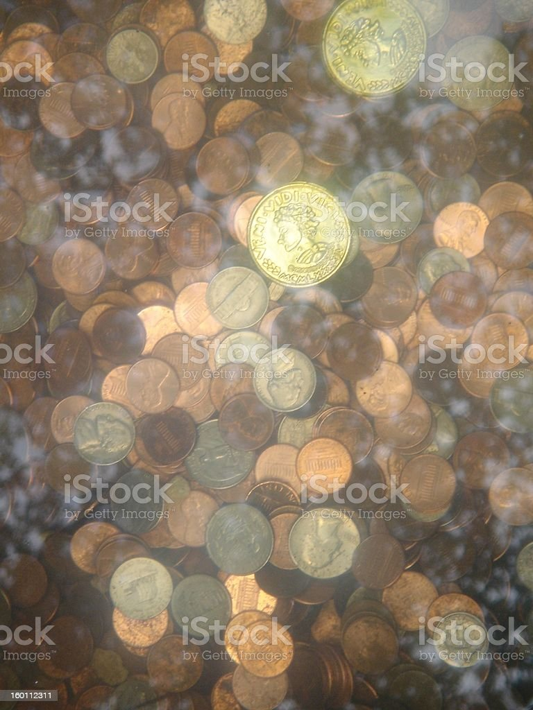wishing coins royalty-free stock photo