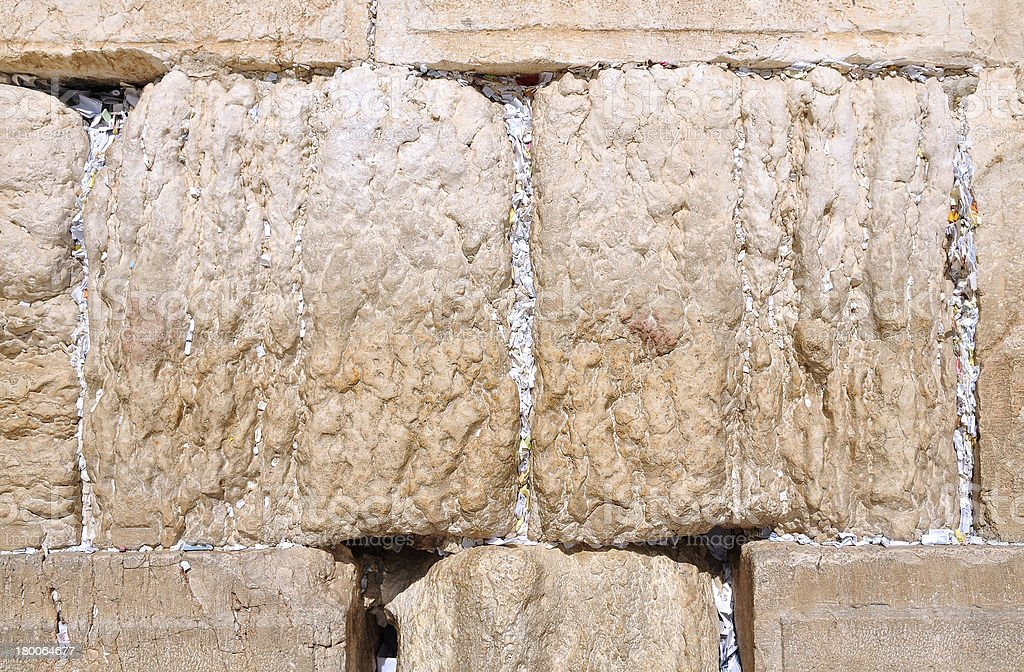 wishing note at the Western Wall, Jerusalem royalty-free stock photo