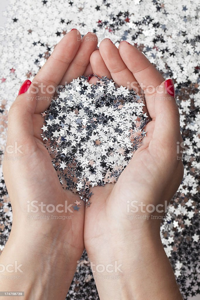 Wishing on a star stock photo