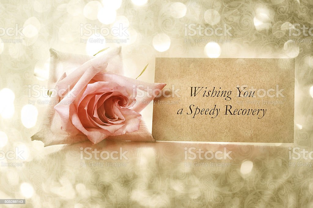 Wishing You a Speedy Recovery message stock photo