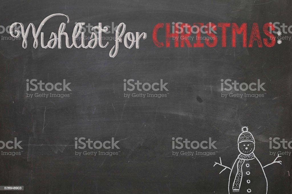 Wishlist for christmas stock photo