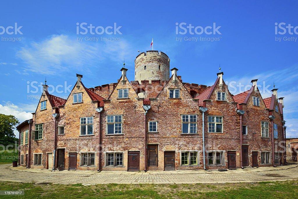 Wisloujscie Fortress in Gdansk stock photo