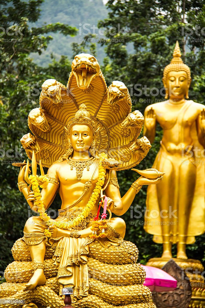 wisnu or narayana statue in chiangmai province ,Thailand stock photo