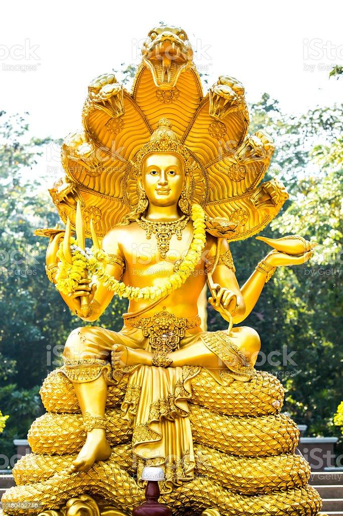 wisnu statue in chiangmai , Thailand stock photo