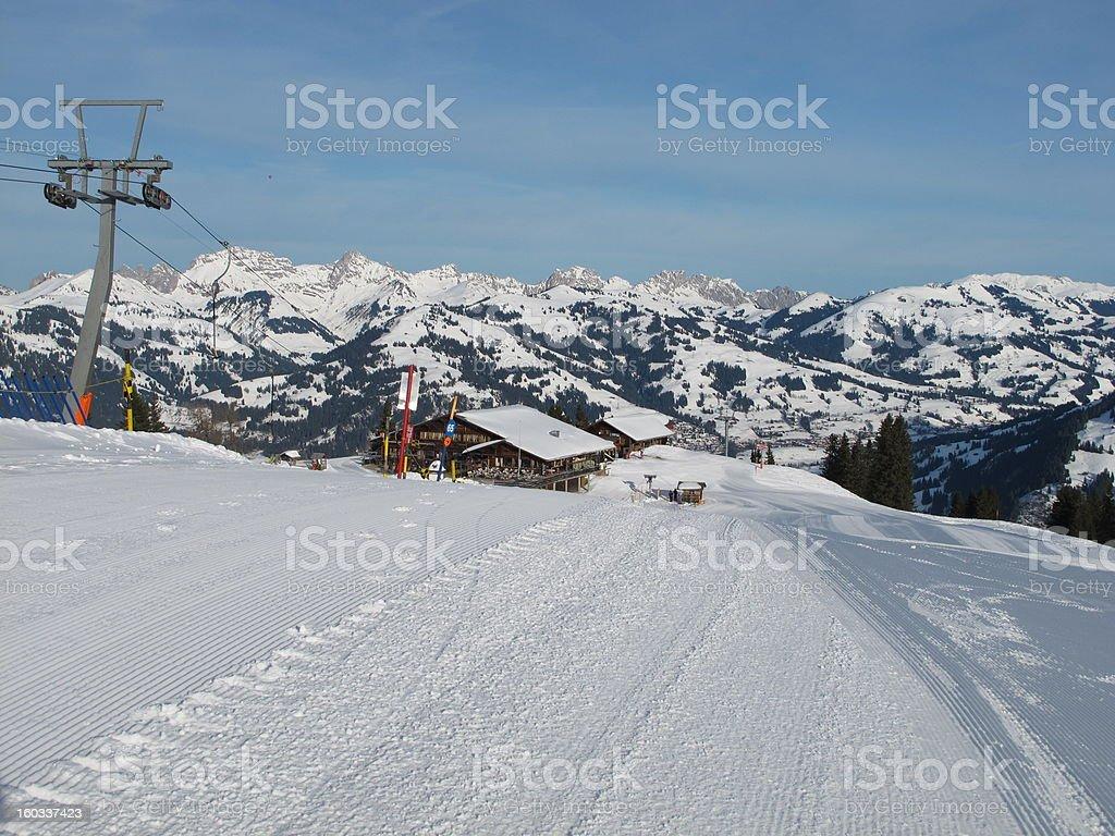Wispile Ski Lift, Gstaad royalty-free stock photo