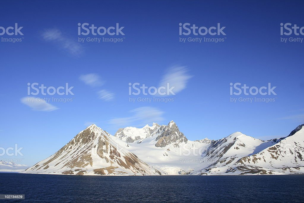Wisps of Cloud over Mountains royalty-free stock photo