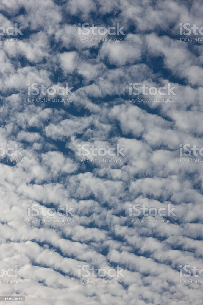 Wispy cirrus cloud background. stock photo